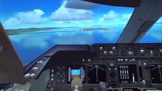 AKASHI ARRAVALからMAYAH TRANSITIONを経てILS 24L APPROACHの実際の飛...
