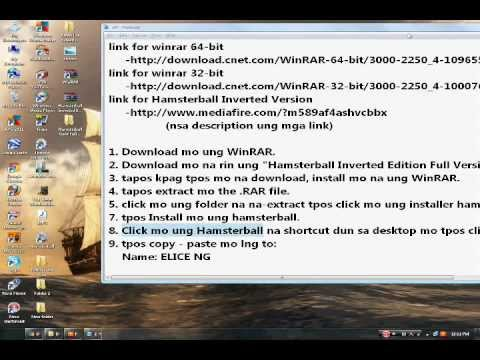 Tutorial: how to install hamsterball using WinRAR