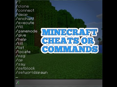 Minecraft Cheats Or Commands?!