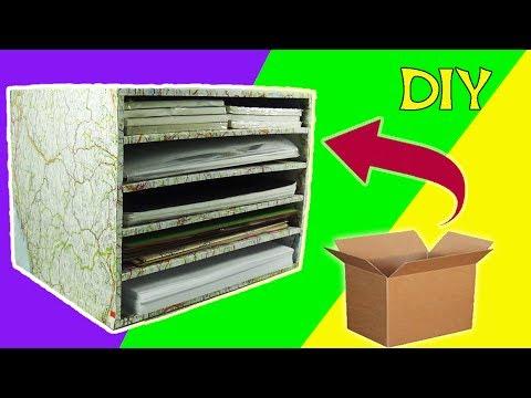 227. Manualidades con cartón: Organizador de hojas (Reciclaje) Ecobrisa