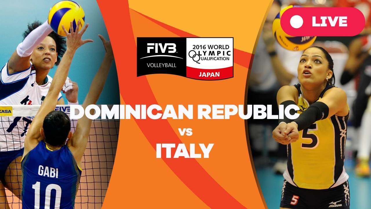 Dominican Republic V Italy 2016 Women S World Olympic Qualification Tournament Youtube
