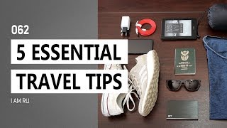 TRAVEL TIPS | 5 ESSENTIAL Travel Tips and Hacks You NEED To Know Of!