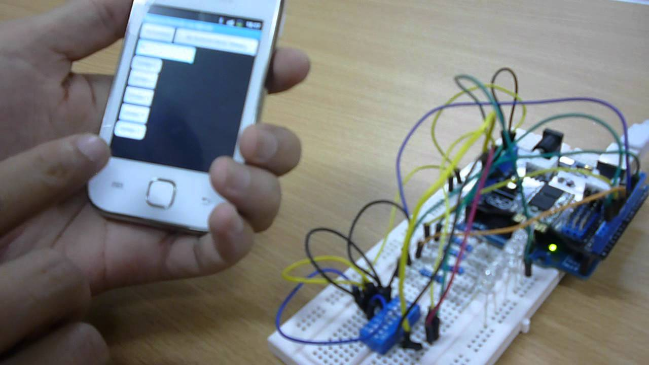 Simulasi pengontrolan lampu menggunakan android dan ard