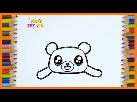Cara Menggambar Dan Mewarnai CHOCO BEAR ( Kawaii ) ~ Pony Toy Art  ~ ☆