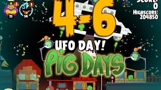 Angry Birds Seasons The Pig Days 4-6 UFO Day 3-Star Walkthrough