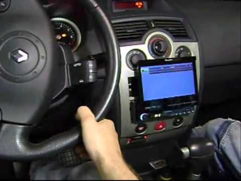 renault megane com interface de comandos satelite faaftech e dvd pioneer youtube. Black Bedroom Furniture Sets. Home Design Ideas
