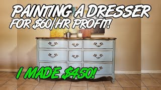 $450 Painted Dresser Makeover | That Shabby Guy Explains Refinishing Techniques