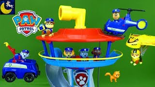 Paw Patrol TOYS Police Pups & Lookout Tower Chase Rubble Ultimate Air Rescue Toy