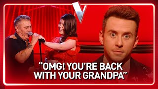 Coaches are SHOCKED when Gracie RETURNS with her Grandpa in The Voice Kids | Journey #118