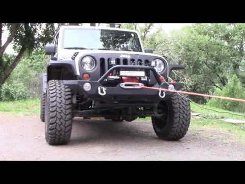 Install and Pre-Tension Synthetic Rope on your Jeep Winch