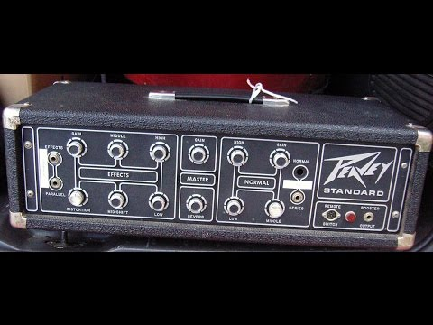 1970 39 s peavey standard guitar bass head vintage usa restored youtube. Black Bedroom Furniture Sets. Home Design Ideas