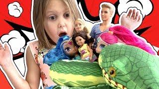 Мультик Барби! Амелькины Игрушки Барби попали в беду! Стейси хочет стать волшебницей! Barbie