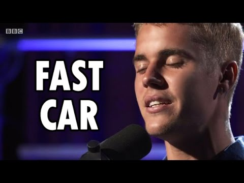 Justin Bieber BBC Radio Fast Car Live YouTube - Fast car artist