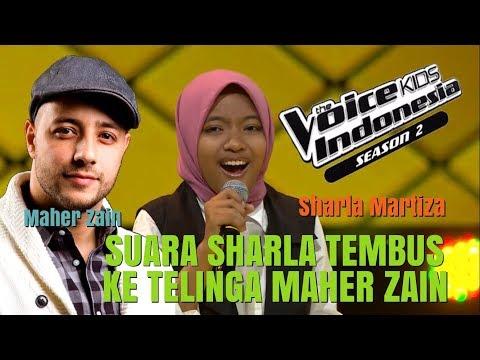 REAKSI MAHER ZAIN DENGAR SUARA SHARLA MARTIZA DI THE VOICE KIDS INDONESIA GTV