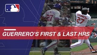 A look at Vlad Guerrero's first and last home runs