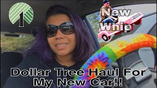 DECORATING MY NEW CAR WITH DOLLAR TREE ITEMS!