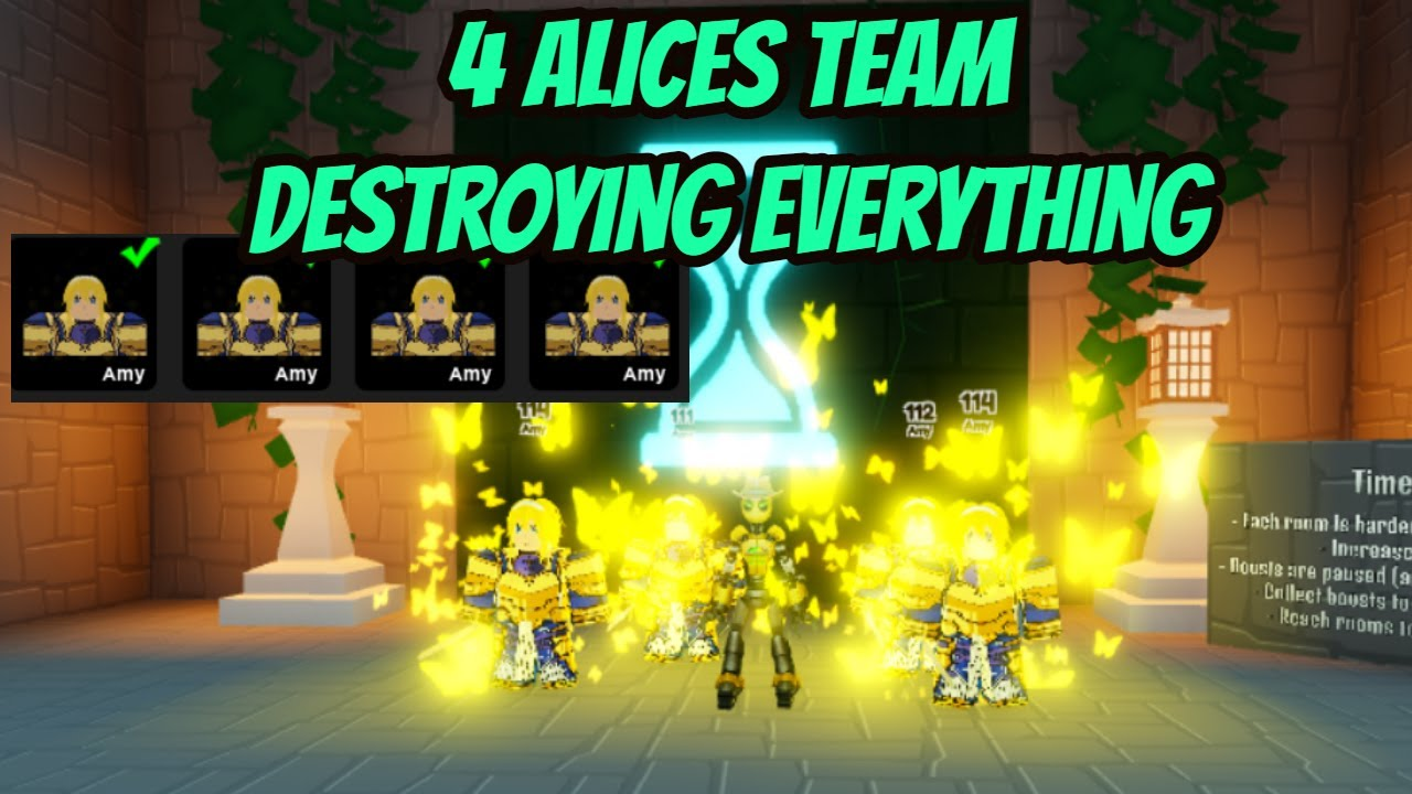 4 Alices Team Destroying everything on anime fighters !!!!