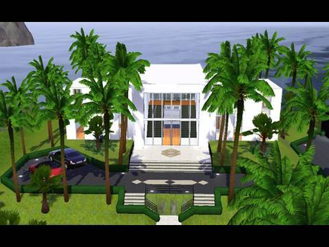 Building a modern beach house in the sims 3 youtube for Beach house plans sims 3