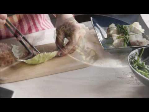 Canh bắp cải cuộn thịt