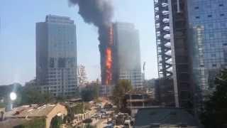Пожар Гагарин Плаза 29.08.15