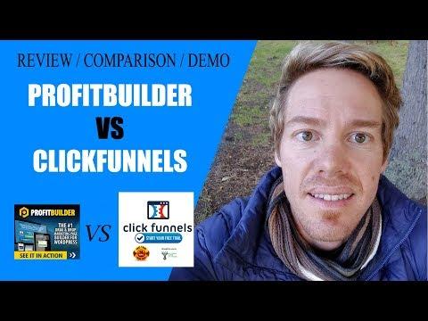 Top marketing page builder software reviews profitbuilder vs click funnels