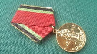 Медаль 20 лет Победы в Великой Отечественной Войне 1941 - 1945 годов Обзор цена и стоимость.