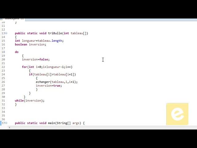 Java : Tri à bulles