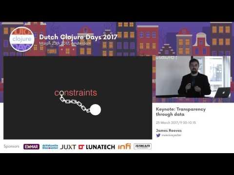 Keynote: Transparency through data by James Reeves