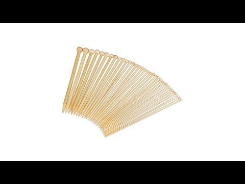 Stricknadeln Jackenstricknadeln Bambus 9,0 mm