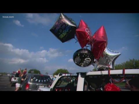 Lake Travis High School students celebrate graduation with car parade | KVUE