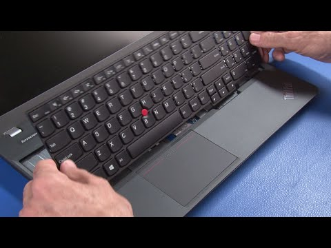 ThinkPad E550, E555, E550c Keyboard Replacement - YouTube