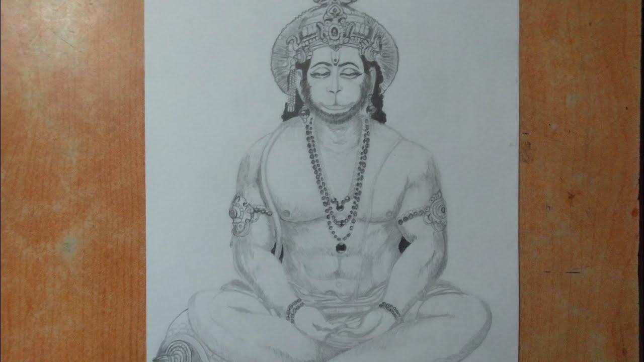 The best ️ pencil sketch of Hanuman - YouTube