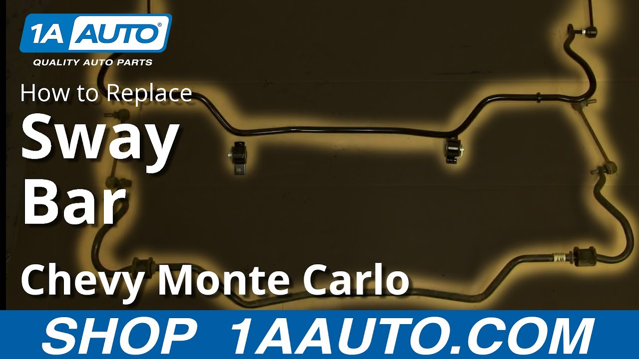 How To Replace Sway Bar 00 07 Chevy Monte Carlo Youtube