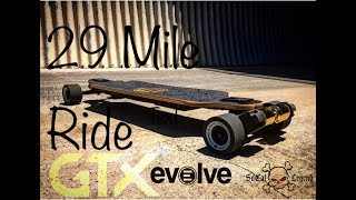 29 Mile ride on the Evolve Bamboo GTX & Review of the ride