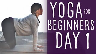 Yoga For Beginners at Home (15 minute) 30 Day Challenge Day 1