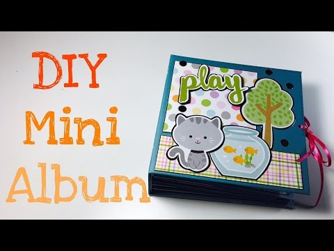 DIY Scrapbook Mini Album [tutorial | deutsch]
