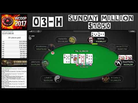 WCOOP 2017 | 03-H Sunday Million $1050 with Brynn Kenney