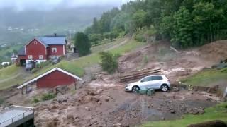 Norway storm rain flood summer july 2017 / norwegen unwetter regen flut erdrutsch Überschwemmung hochwasser fishing, angeln#norway #flood #norwegen