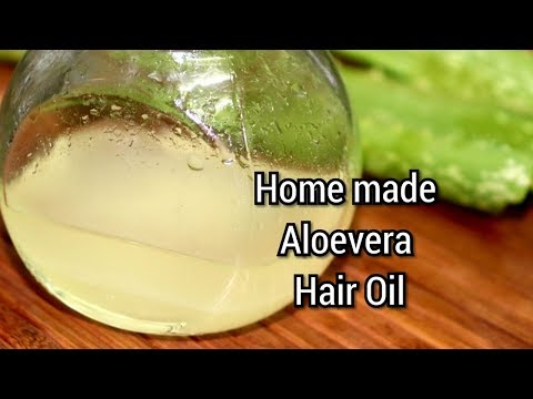Aloevera Hair Oil for hair fall ( Homemade ) / முடி வேகமாக வளர கற்றாழை ஹேர் ஆயில்
