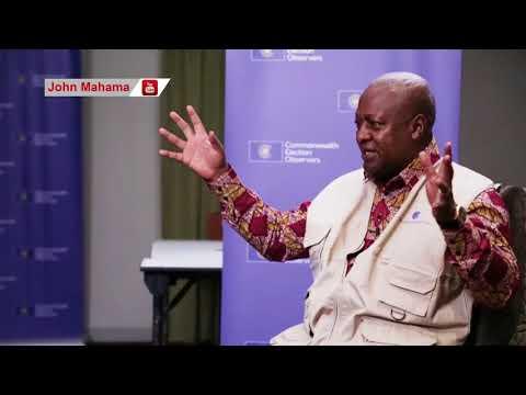 John Mahama speaks to Sierra Leone media ahead of elections