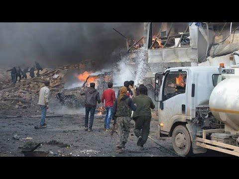 Syria truck explosion kills dozens in rebel-held Azaz