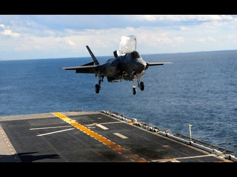 F-35B. Взлет и посадка с универсального десантного корабля типа «Америка» LHA 6
