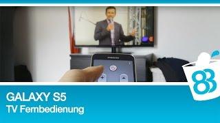 Galaxy S5 als TV Fernbedienung mit integriertem Infrarot Sensor