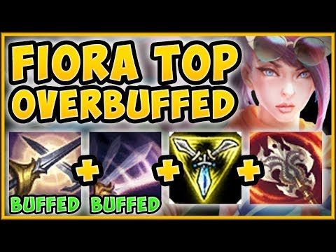 WTF! NEW FIORA BUFFS MAKE HER 100% TOO EASY TO PLAY?? FIORA SEASON 9 TOP GAMEPLAY! League of Legends