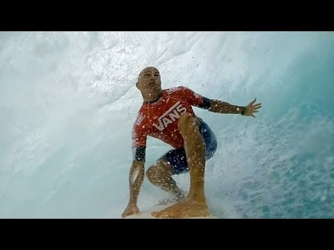 GoPro: Kelly Slater's Left Barrel At Sunset Beach – Vans Triple Crown 2013