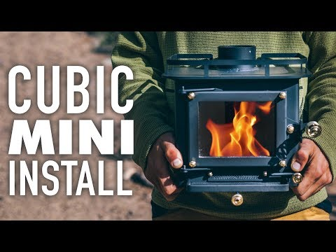 Installing a CUBIC MINI WOOD STOVE inside a 13ft Scamp Trailer