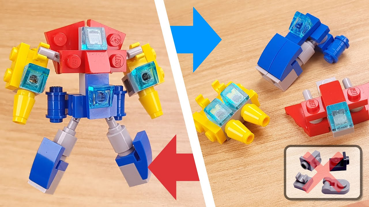 How to build mini LEGO micro transformer combiner mech - Hyperzord Legacy