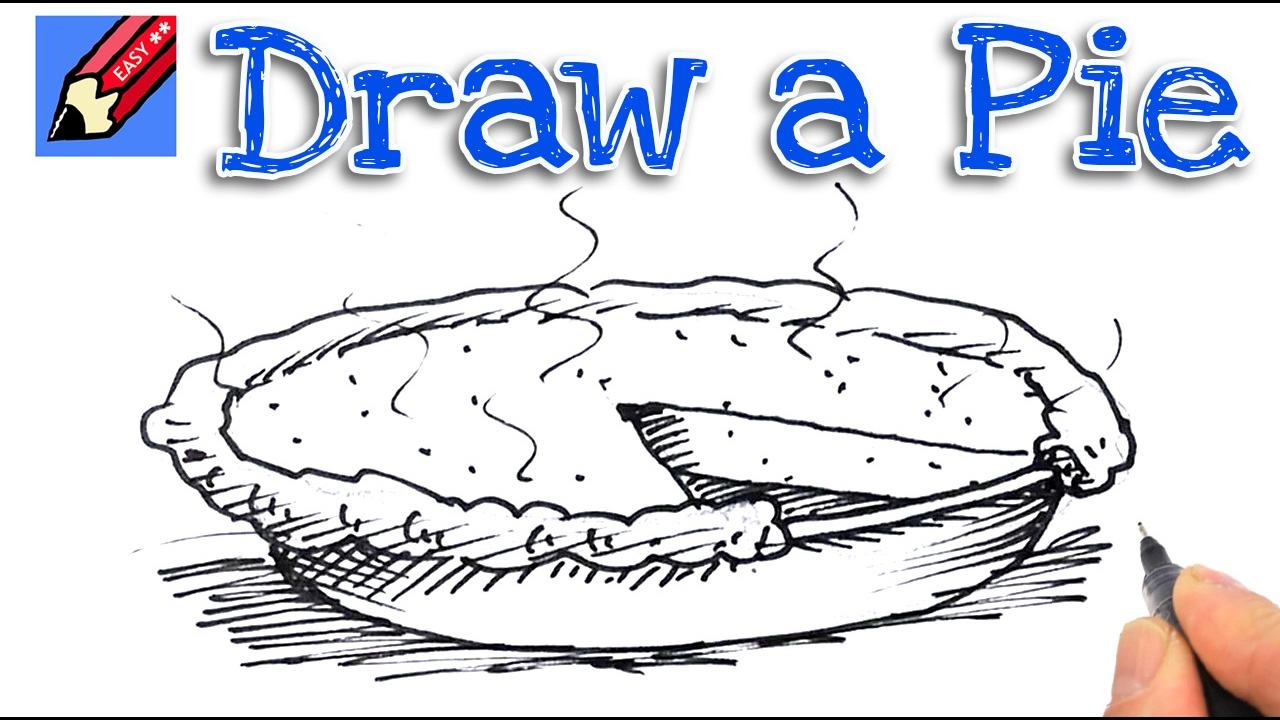 Uncategorized Drawing Of A Pie how to draw a pie real easy for kids and beginners youtube beginners
