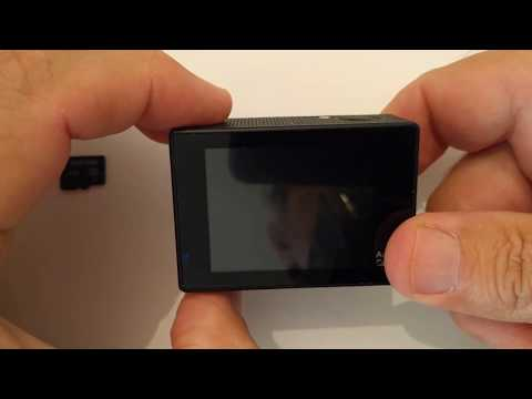 How To Insert The SD Card Ace Cam 4k