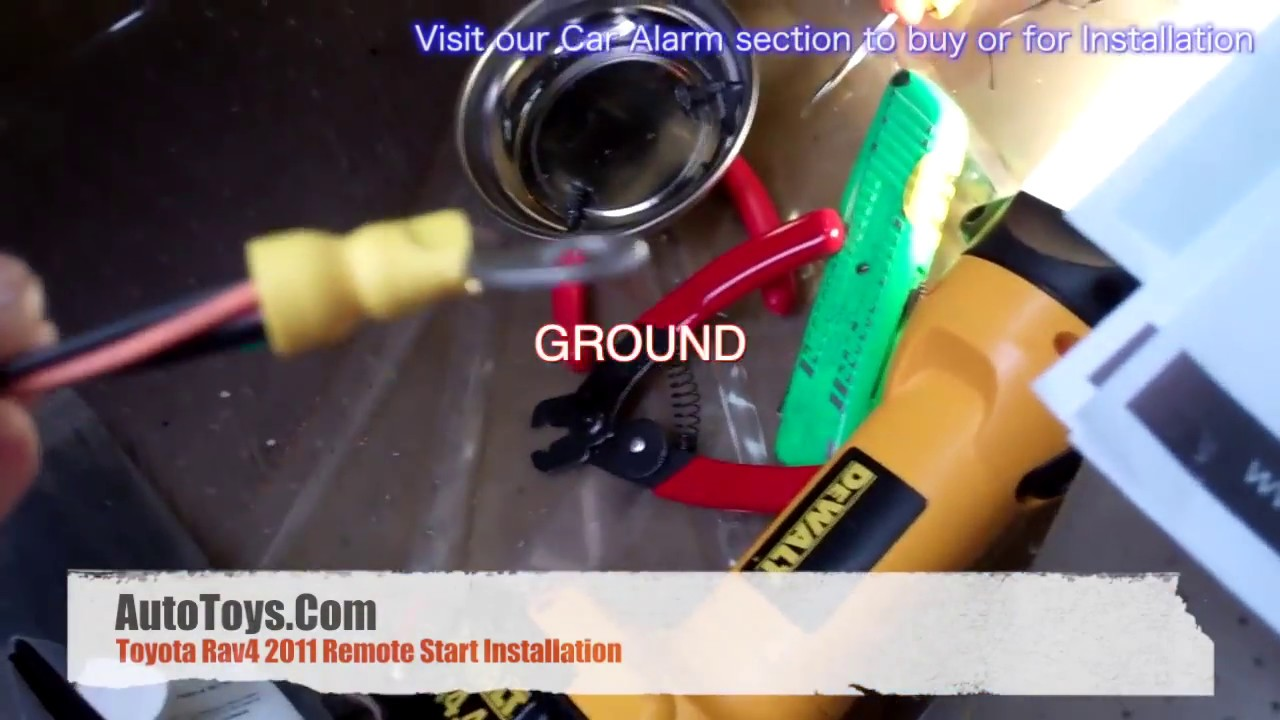 hight resolution of toyota rav4 2011 remote start installation with push to start pts bypass by autotoys